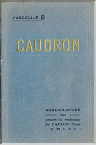 Caudron C.59 E.T.2 Aircraft Parts Catalog  Manual ( French Language )