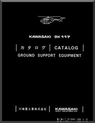 MBB /Kawasaki BK 117 Helicopter Ground Support Manual , ( English and Japanese Language )