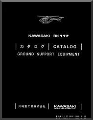 MBB /Kawasaki BK 117 Helicopter Ground Support Manual , ( English and Japanese Language )
