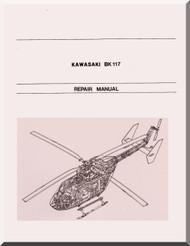 MBB / Kawasaki BK 117 Helicopter Structural Repair Manual , ( English and Japanese Language )