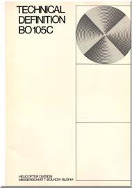 MBB  Messerschmitt - Bolkow - Blohm  BO 105 C Technical Brochure Manual