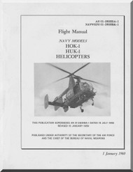 KAMAN HOK-1 HUK-1 Helicopter Flight Manual  AN 01-260HBA-1, 1960
