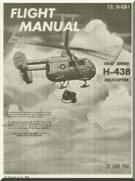 KAMAN H-43 B  Helicopter Flight Manual  -1H-43B-1 - 1961