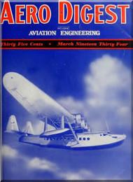 Aero Digest  Aircraft Aviation Magazines March 1934