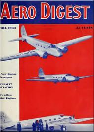 Aero Digest  Aircraft Aviation Magazines April 1933