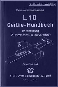 Blohm & Voss L-10 Aircraft Technical Manual -   (German Language )