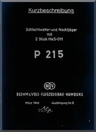 Blohm & Voss BV-P 215 Aircraft Technical Manual -   (German Language )