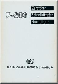 Blohm & Voss BV P-203 Aircraft Technical Manual -  (German Language )