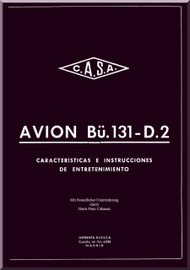 Bucker / CASA Bu-131   D-2 Aircraft Handbook  Manual -    1941   (Spanish  Language )