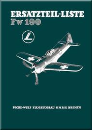 Focke-Wulf  FW 190 A,F,G  Aircraft  Illustrated Parts Catalog  Manual ,    (German Language ) -  1729 pages -  Ersatzteilliste, 1943