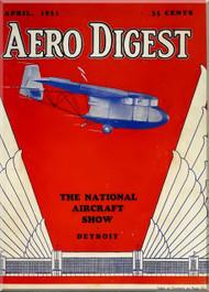 Aero Digest  Aircraft Aviation Magazines April  1931