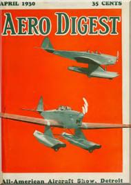 Aero Digest  Aircraft Aviation Magazines April   1930