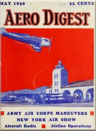 Aero Digest  Aircraft Aviation Magazines May  1930