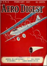 Aero Digest  Aircraft Aviation Magazines February 1927