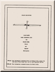 Hiller  UH-12 A, B  Helicopter Parts Catalog  Manual