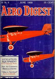 Aero Digest  Aircraft Aviation Magazines June 1928