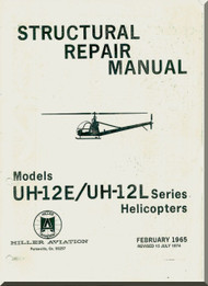 Hiller  UH-12 E / L Helicopter Structural Repair  Manual