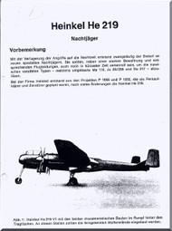 Heinkel  He-219  Aircraft  Technical Description  Manual  (German Language )