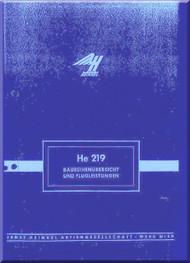 Heinkel  He-219  Aircraft  Flight Achievements   Manual Baureihenubersicht und Flugleistungen (German Language )