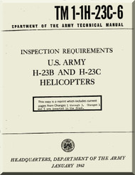 Hiller H-23 C  Helicopter Inspection Requirements  Manual - TM 1-1H-23C-6 -