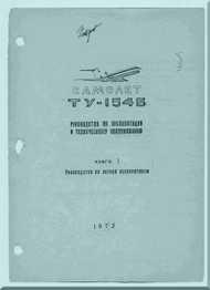 Tupolev Tu-154   Aircraft  Technical  Manual - 811 pages   ( Russian  Language )