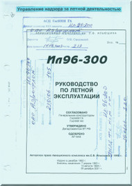 Ilyushin Il-196-300 Aircraft  Flight  Technical  Manual  - Book 2 -   ( Russian  Language )