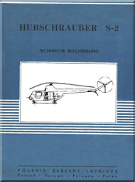 PZL S2  Helicopter Rotocraft Technical Brochure  Manual ( Polish Language )
