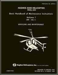 Hughes 369  / 500   Maintenance  Manual   PN CSP-D-2 , 1982