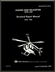 Hughes 369  / 500   Structural Repair  Manual   PN CSP-06 , 1976