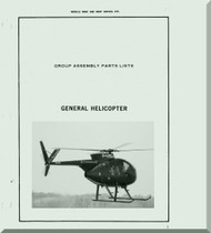 Hughes 369 F 369 E Helicopter  Group Assembly Parts List Manual   , 745 pages