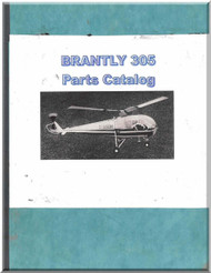 Brantly 305  Helicopter Parts Catalog  Manual  ( English Language )