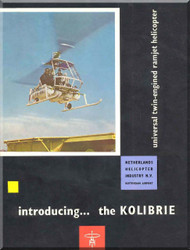 NHI Kolibrie  Helicopter Technical Brochure   Manual  -