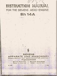 Siemens  Sh 14 Engine  Instruction Manual (English  Language )