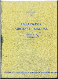 Airspeed Ambassador Aircraft Service Maintenance   Manual -  ( English Language )