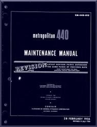 Convair 440 Aircraft Maintenance  Manual - 1956 - ZM-440-012