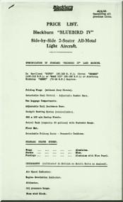 Blackburn Bluebird IV   Aircraft  Technical  Manual