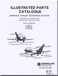 Aeronca  Aircraft Engine Thrust Reverser  System   Illustrated Part Catalog  Manual  - 78-31  ( English Language )