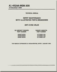 Anti-Icing Valve    Depot Maintenance  with  Illustrated Parts Breakdown  Manual NAVAIR A1-452AA-MDB-300