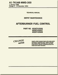 Afterburner  Fuel Control  Depot Maintenance    Manual NAVAIR A1-761AB-MDB-300