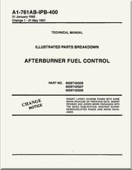 Afterburner  Fuel Control  Illustrated Parts Breakdown     Manual NAVAIR A1-761AB-MDB-400