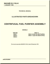 Centrifugal Fuel Purifier Assembly Illustrated Parts Breakdown  Manual NAVAIR 03-110J-6