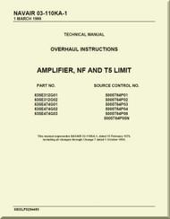 Amplifier, NF and T5 Limit Overhaul Instructions Manual NAVAIR 03-110KA-1