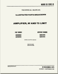 Amplifier, NF and T5 Limit  Illustrated Parts Breakdown   Manual NAVAIR 03-110KD-18