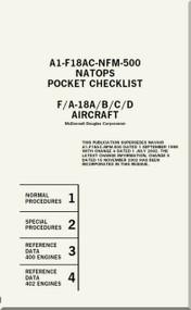 Mc Donnell Douglas F / A -18 A / B / C / D  Aircraft  Pocket Checklist Manual A1-F18AC-NFM-500