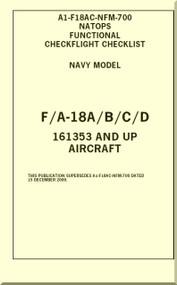 Mc Donnell Douglas F / A -18 A / B / C / D  Aircraft  Functional Check Flight  Checklist Manual A1-F18AC-NFM-700