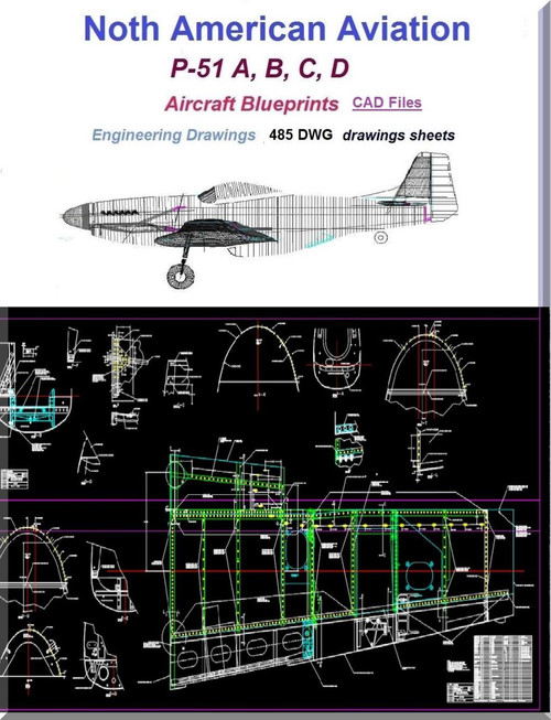 North American Aviation P 51 Aircraft Blueprints
