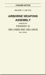Airborne Weapons Assembly -  Checklist -   PAVEWAY III GBU-24B/B and GBU-24E/B  NAVAIR - 11-140-10-2