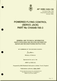 Westland Gazelle ASH Mk1  Helicopter Component  - Powered Flying Control ( Servo Jack )  Manual  - A.P. 105B-1420-136