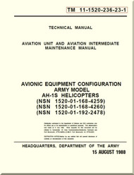 Bell Helicopter AH-1 S  Aviation Unit and Intermediate Maintenance  Manual  - Avionic Equipment Configuration TM 11-1520-236-23-1