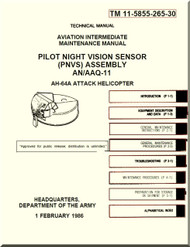 Boeing Helicopter AH-64 A Aviation intermediate Maintenance  Manual - Pilot Night Vision Sensor Assembly - TM 11-5855-265-30